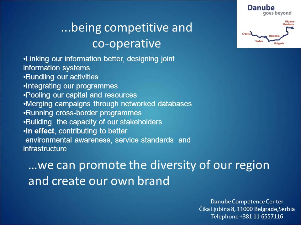 ...being competitive and co-operative