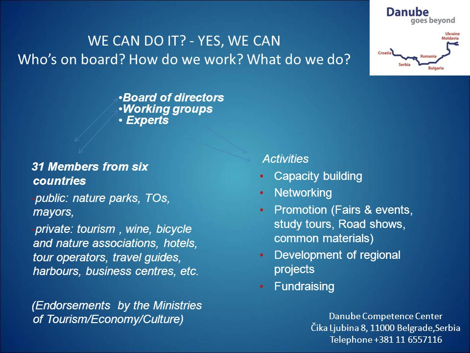 WE CAN DO IT. - YES, WE CAN Who's on board. How do we work
