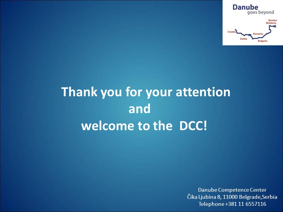 Thank you for your attention and welcome to the DCC!