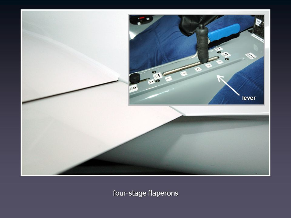lever four-stage flaperons