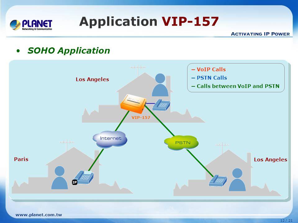Application VIP-157 SOHO Application ─ VoIP Calls ─ PSTN Calls