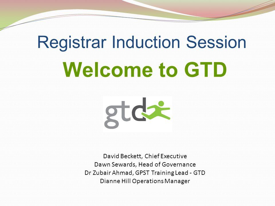 Registrar Induction Session