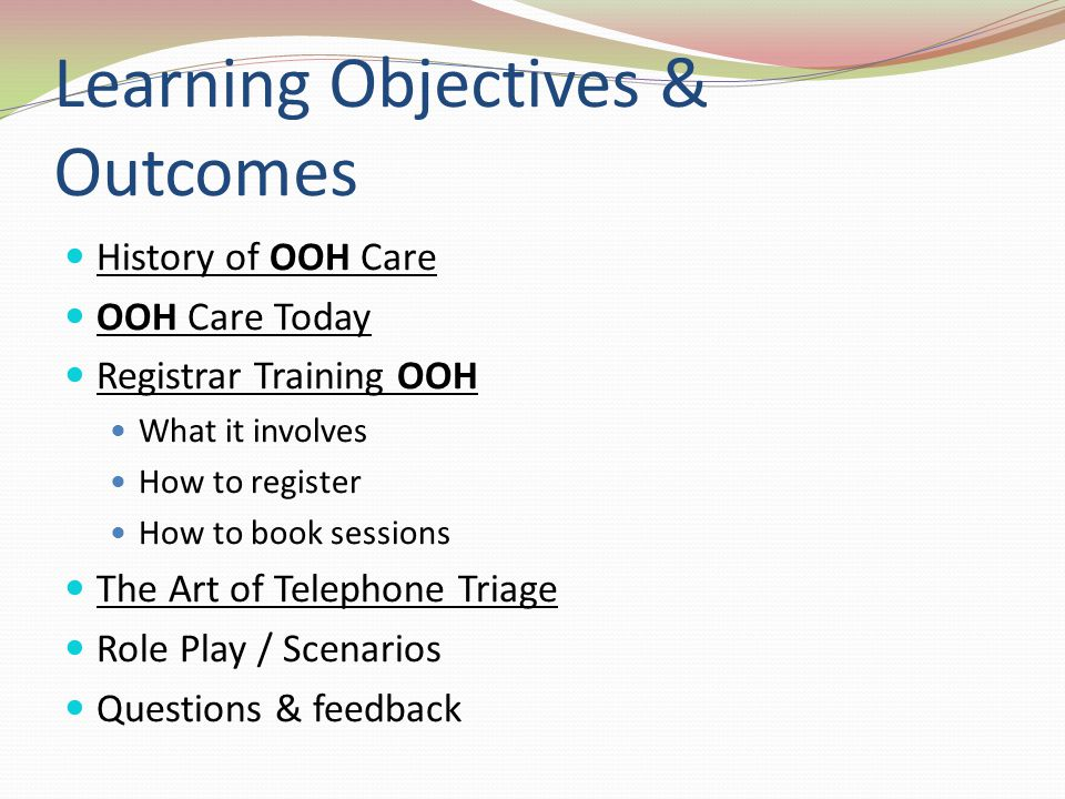 Learning Objectives & Outcomes