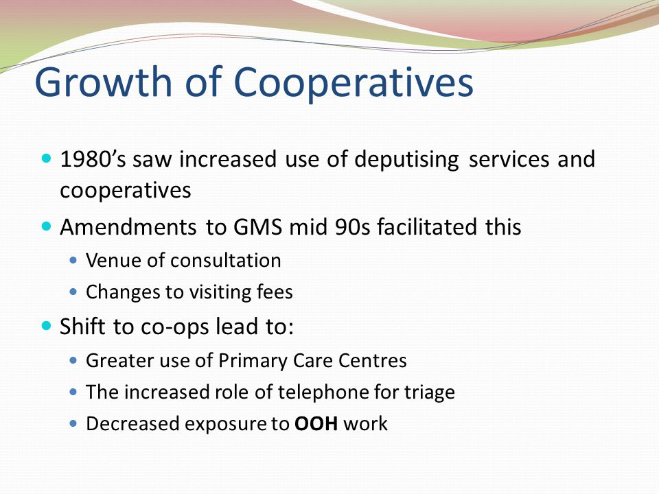 Growth of Cooperatives