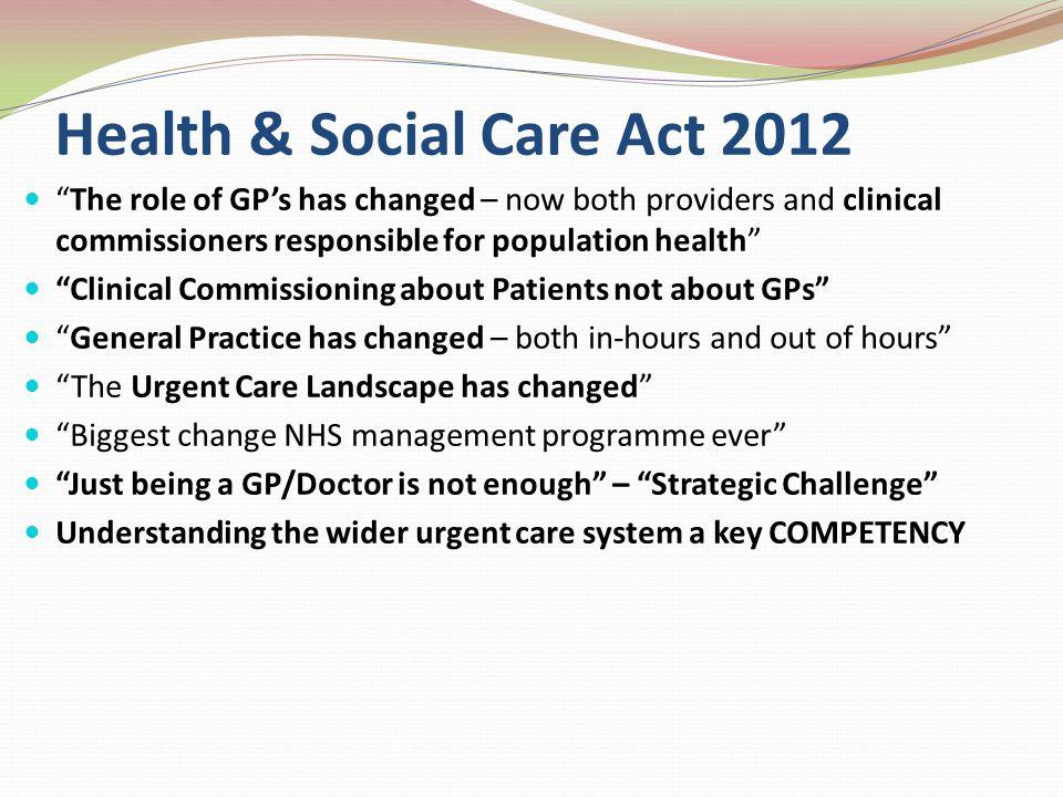 Health & Social Care Act 2012