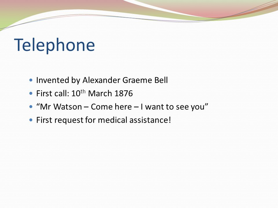 Telephone Invented by Alexander Graeme Bell