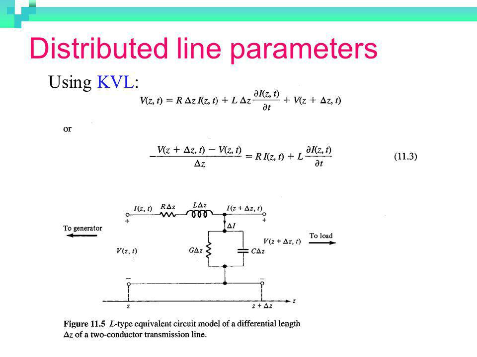 Distributed line parameters