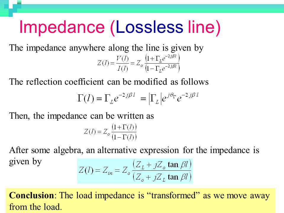 Impedance (Lossless line)