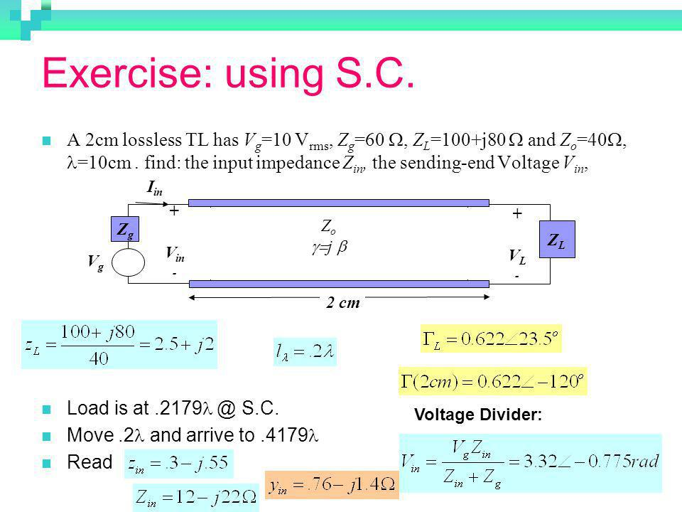 Exercise: using S.C.