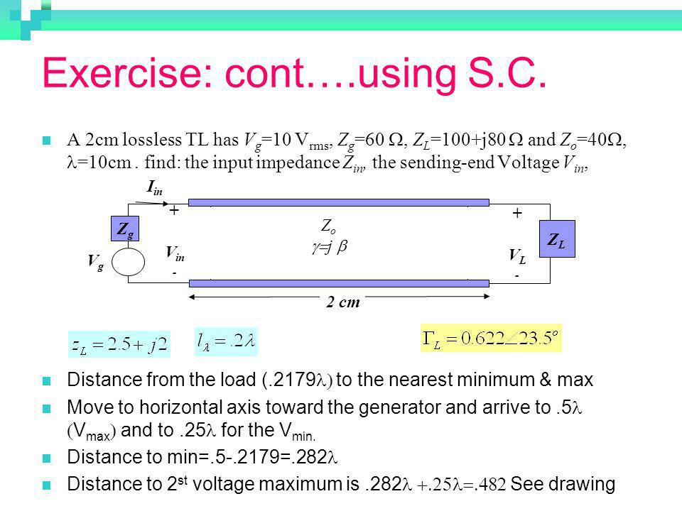 Exercise: cont….using S.C.