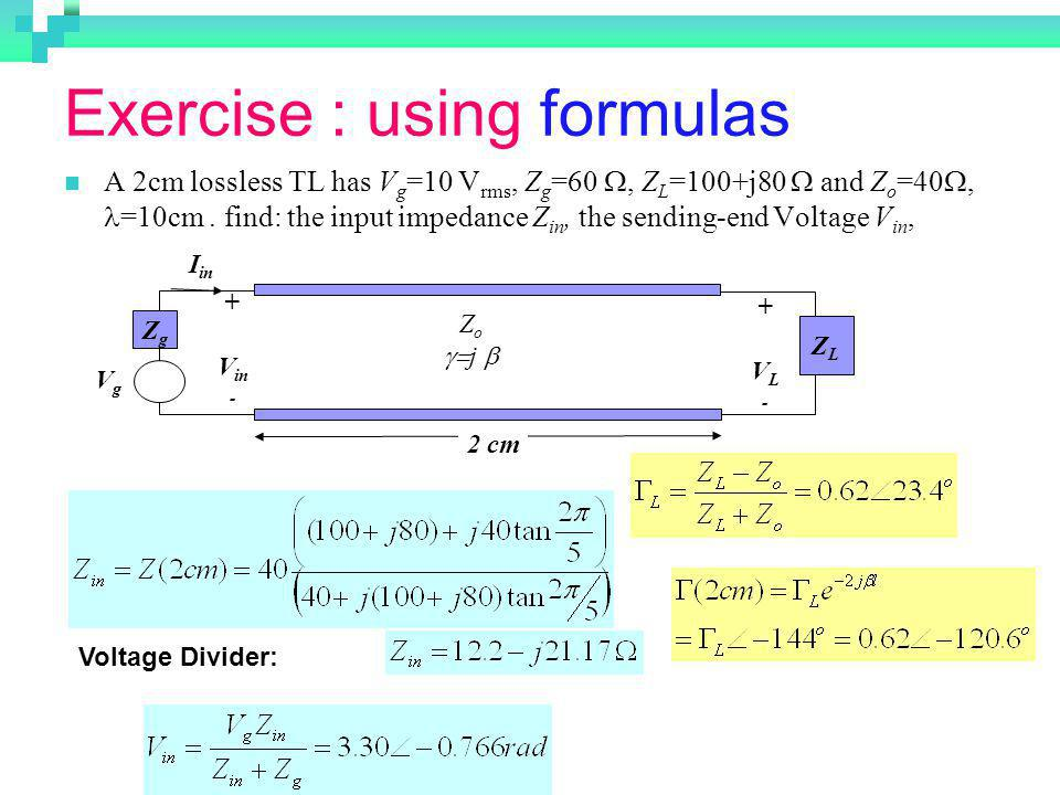 Exercise : using formulas