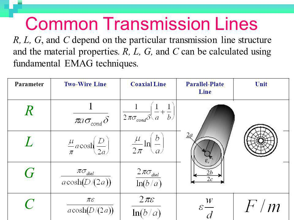 Common Transmission Lines