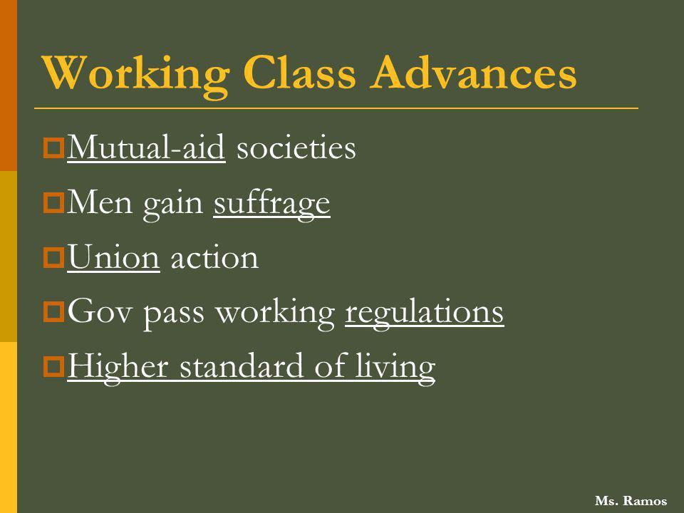 Working Class Advances