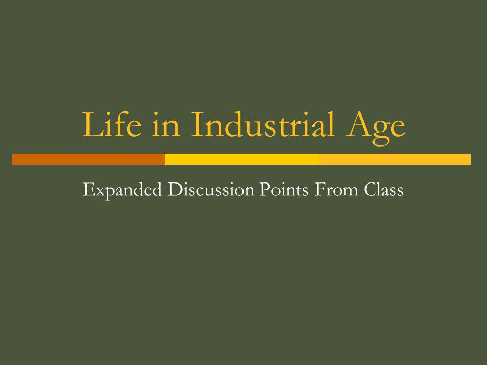 Expanded Discussion Points From Class
