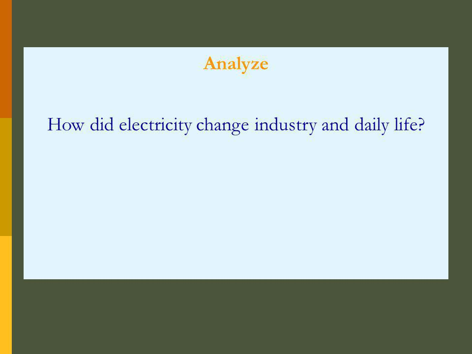 How did electricity change industry and daily life