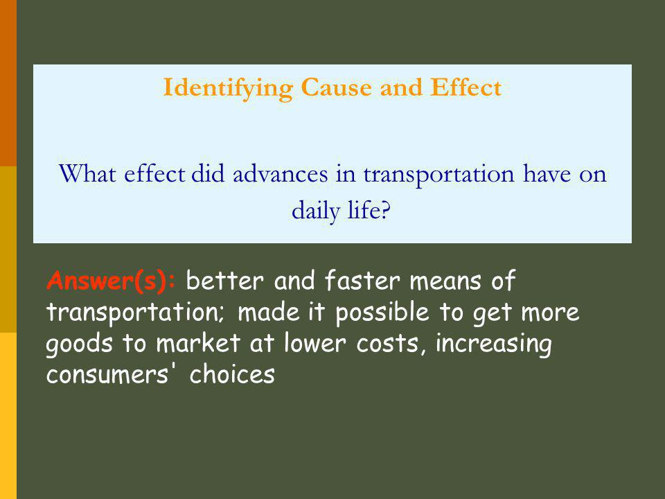 Identifying Cause and Effect