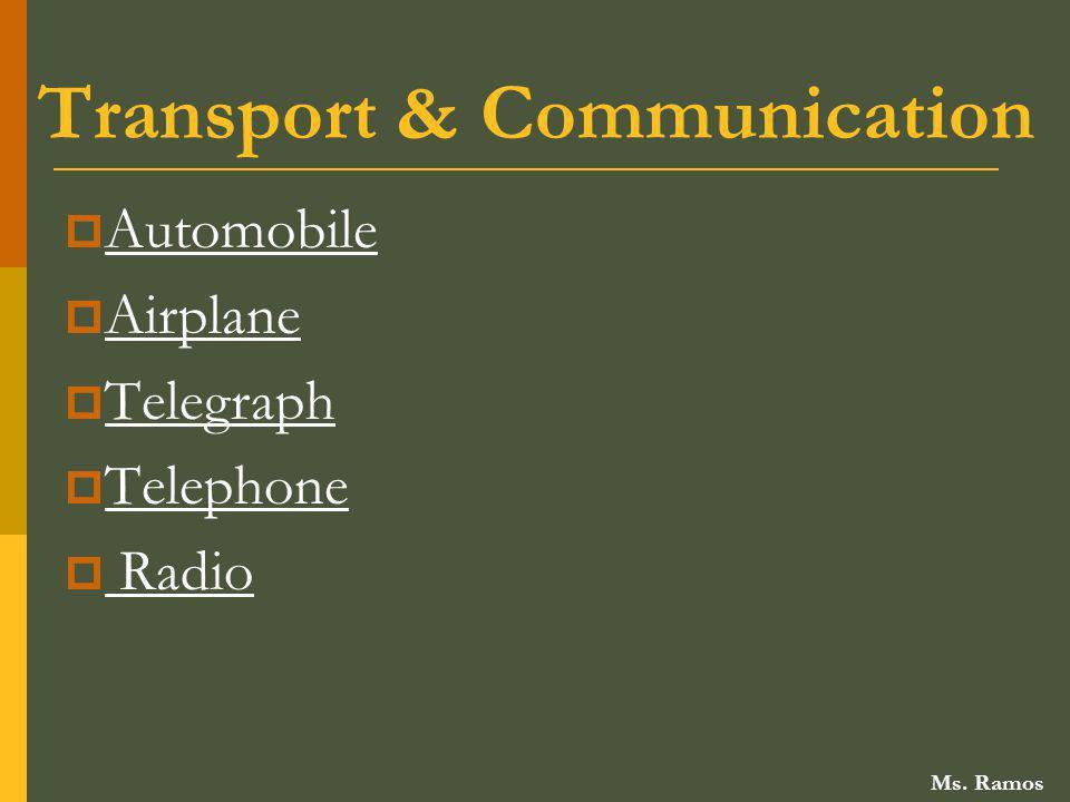 Transport & Communication