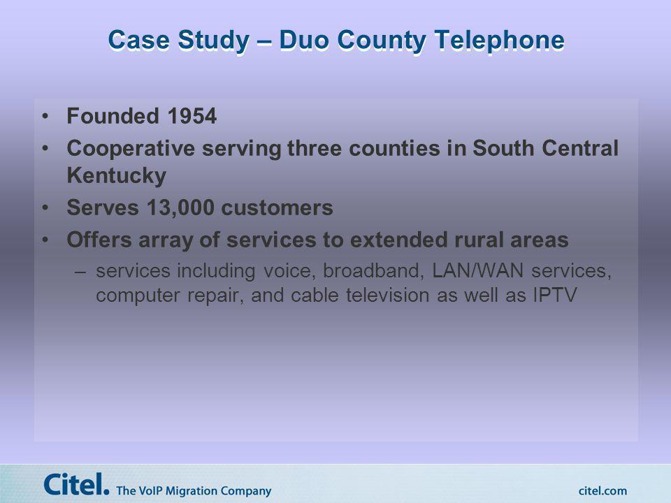 Case Study – Duo County Telephone