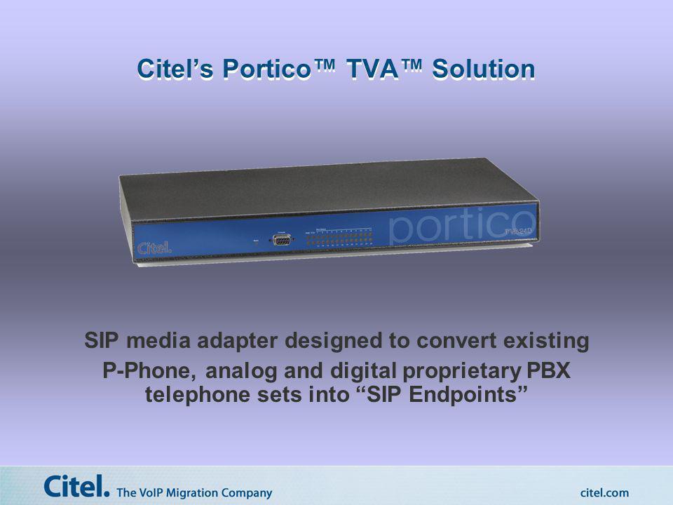 Citel's Portico™ TVA™ Solution