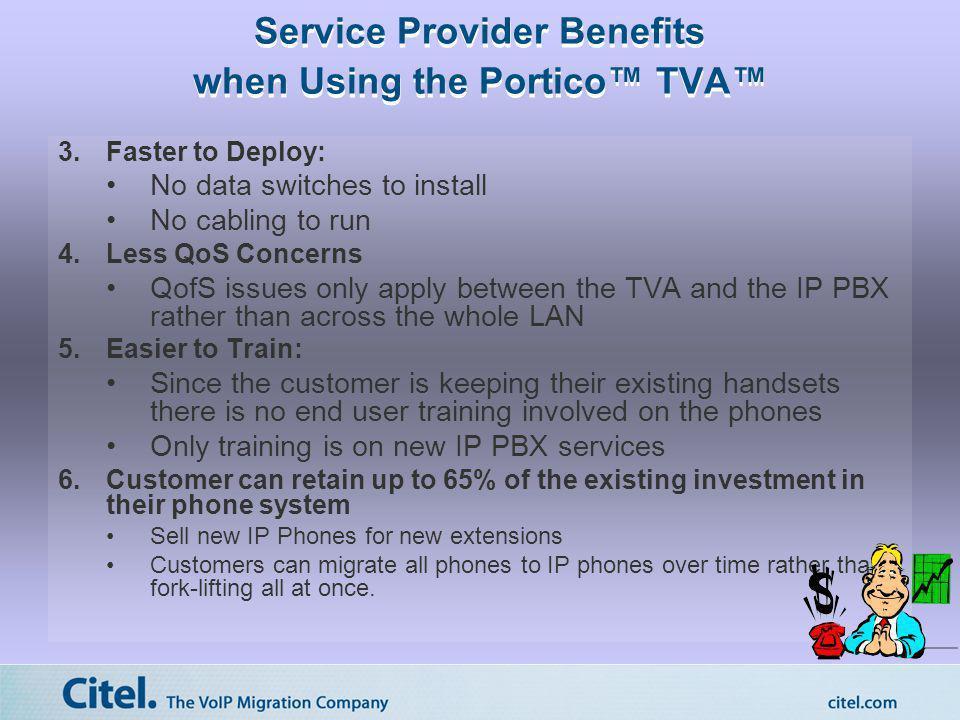 Service Provider Benefits when Using the Portico™ TVA™