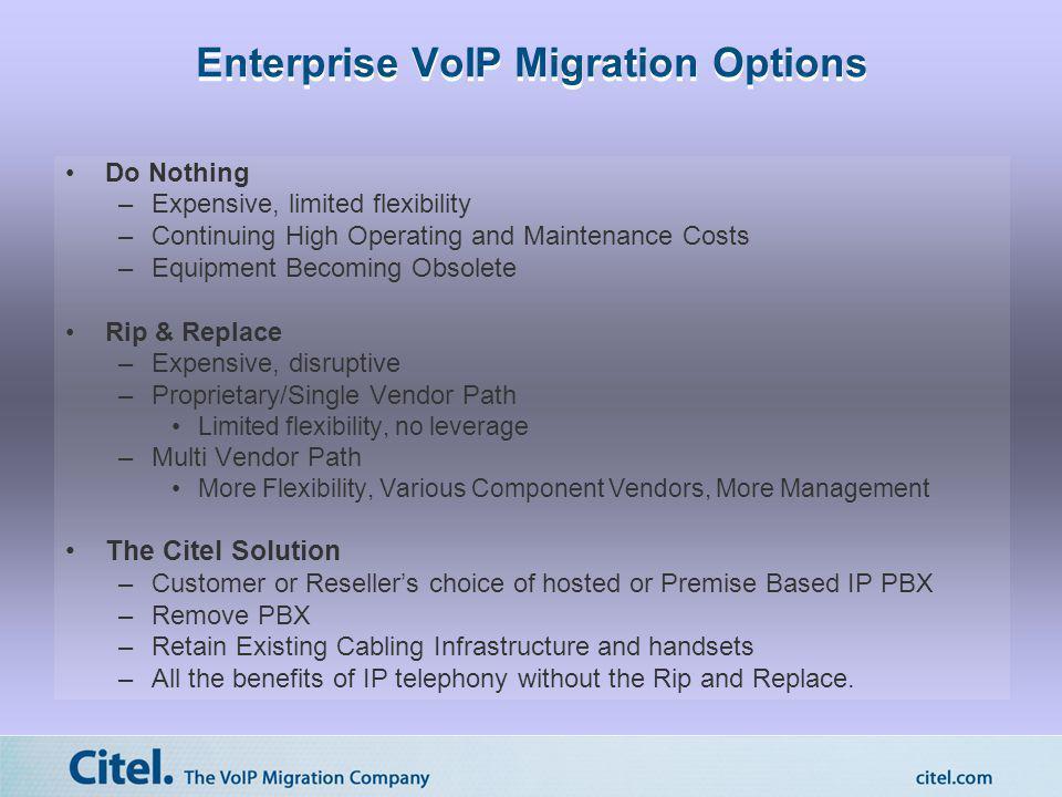 Enterprise VoIP Migration Options