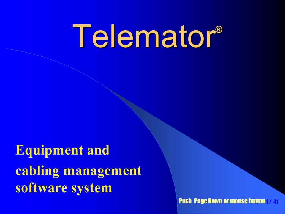 Equipment and cabling management software system