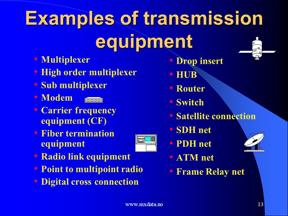 Examples of transmission equipment