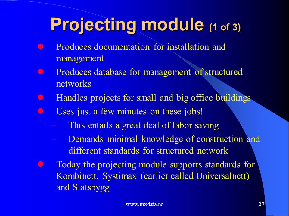 Projecting module (1 of 3)