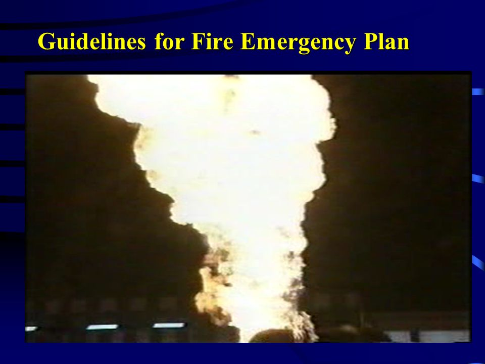 Guidelines for Fire Emergency Plan