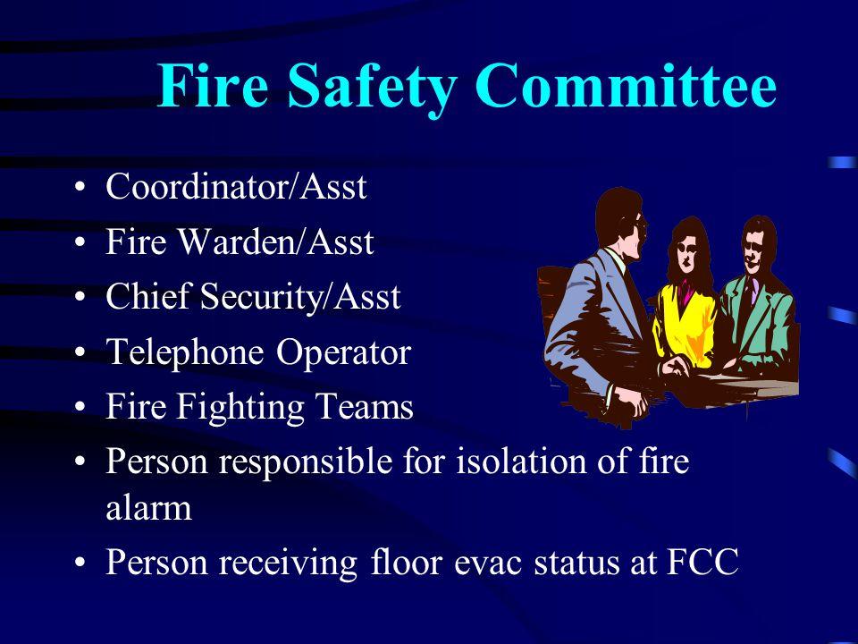 Fire Safety Committee Coordinator/Asst Fire Warden/Asst