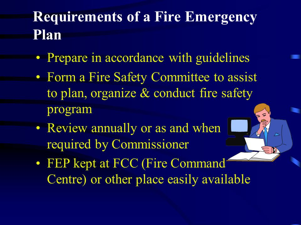 Requirements of a Fire Emergency Plan