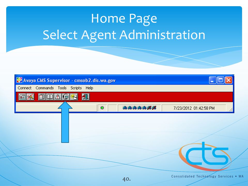 Home Page Select Agent Administration