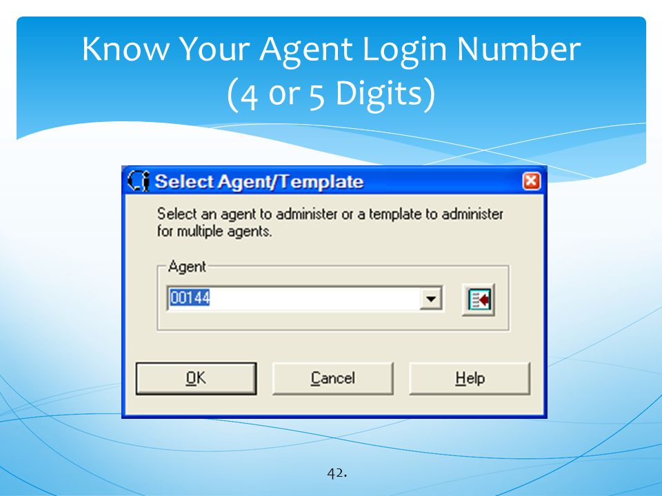 Know Your Agent Login Number (4 0r 5 Digits)