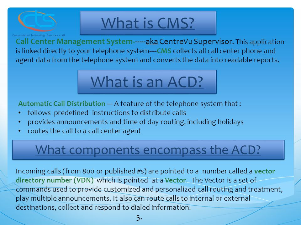 What components encompass the ACD
