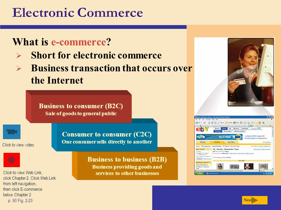 Electronic Commerce What is e-commerce Short for electronic commerce