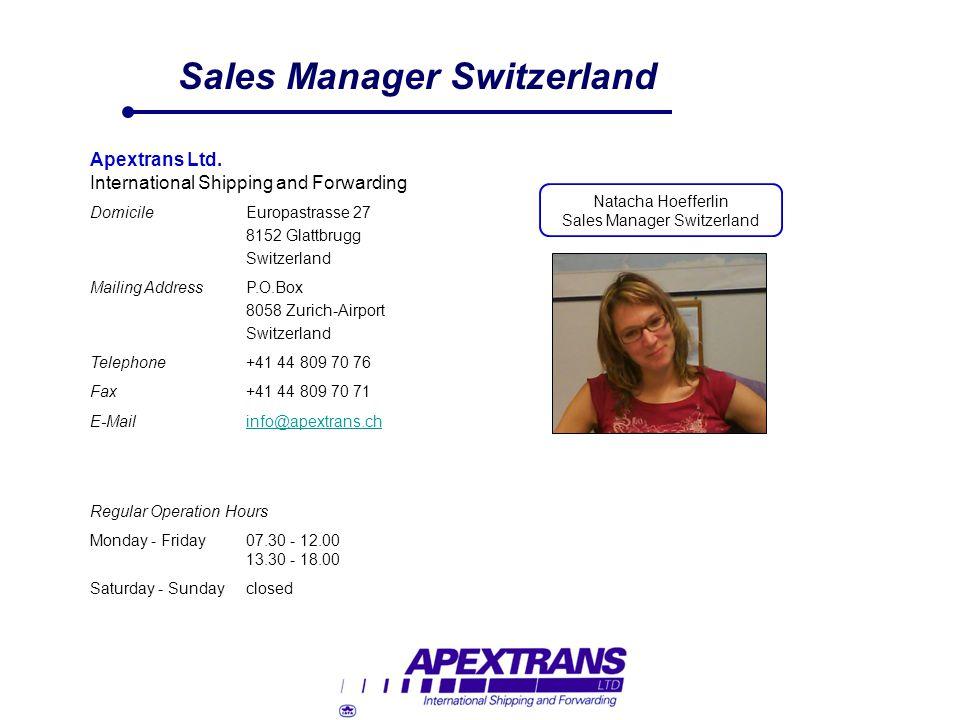 Sales Manager Switzerland