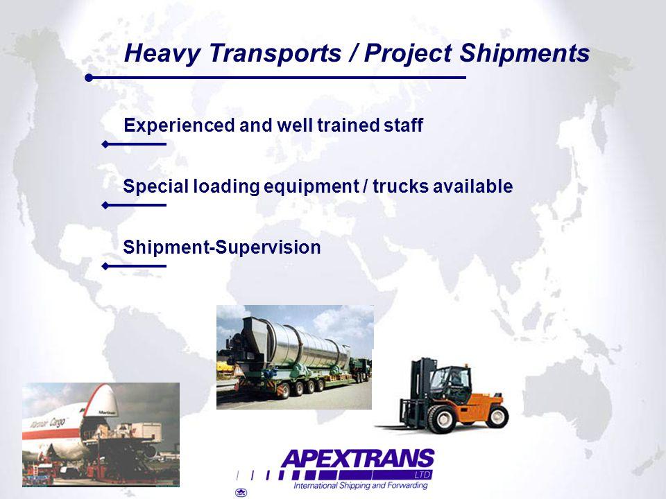 Heavy Transports / Project Shipments