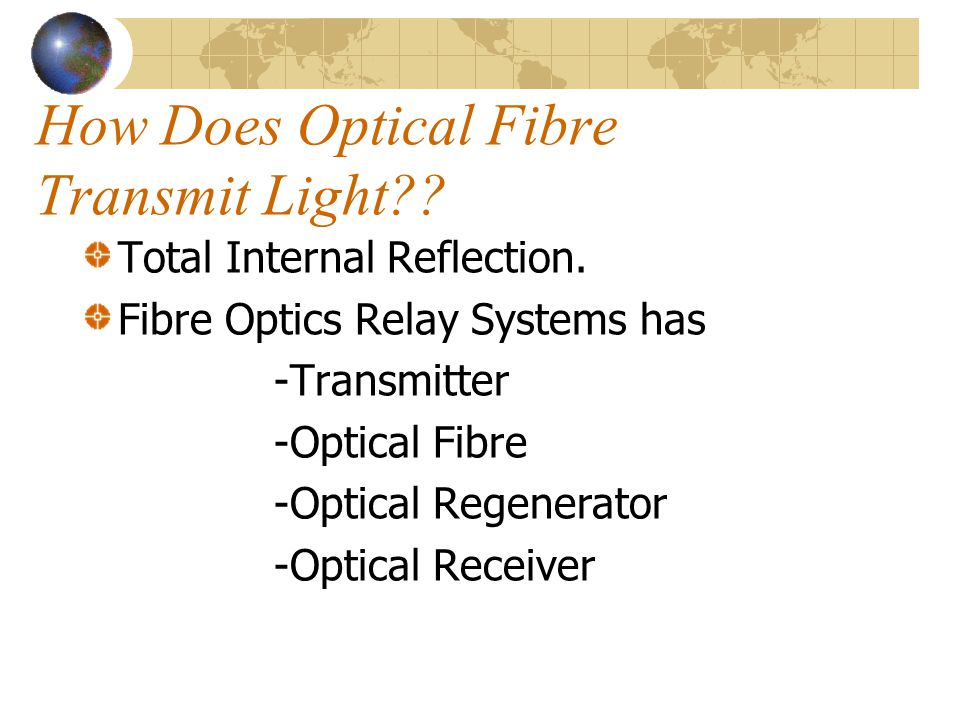 How Does Optical Fibre Transmit Light