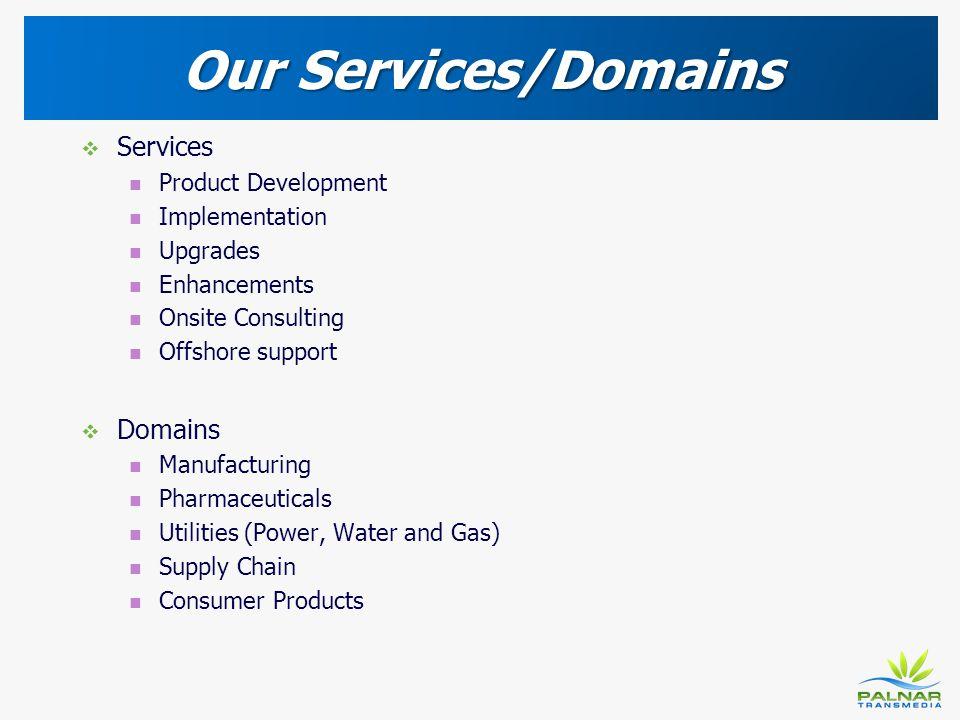 Our Services/Domains Services Domains Product Development
