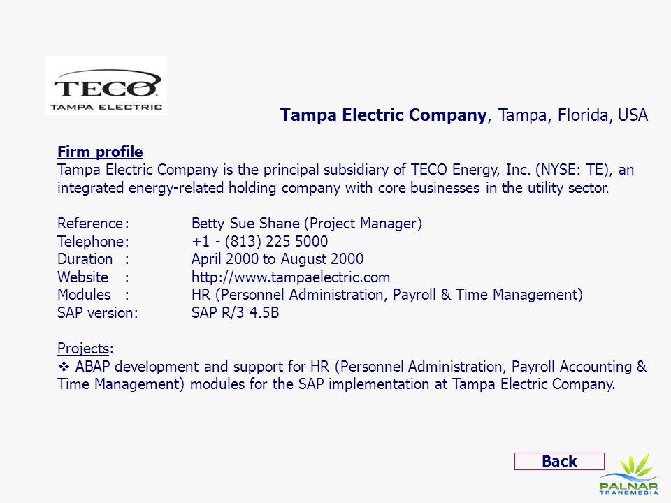 Tampa Electric Company, Tampa, Florida, USA