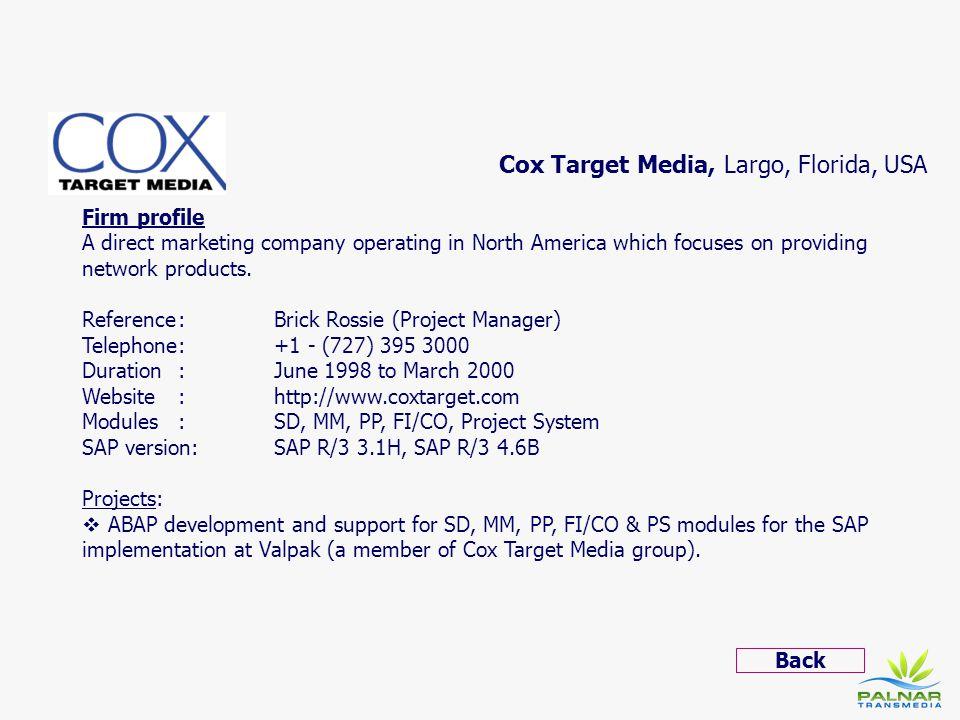 Cox Target Media, Largo, Florida, USA