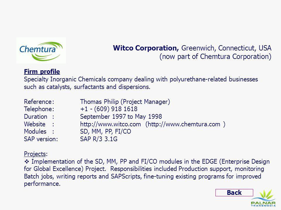 Witco Corporation, Greenwich, Connecticut, USA