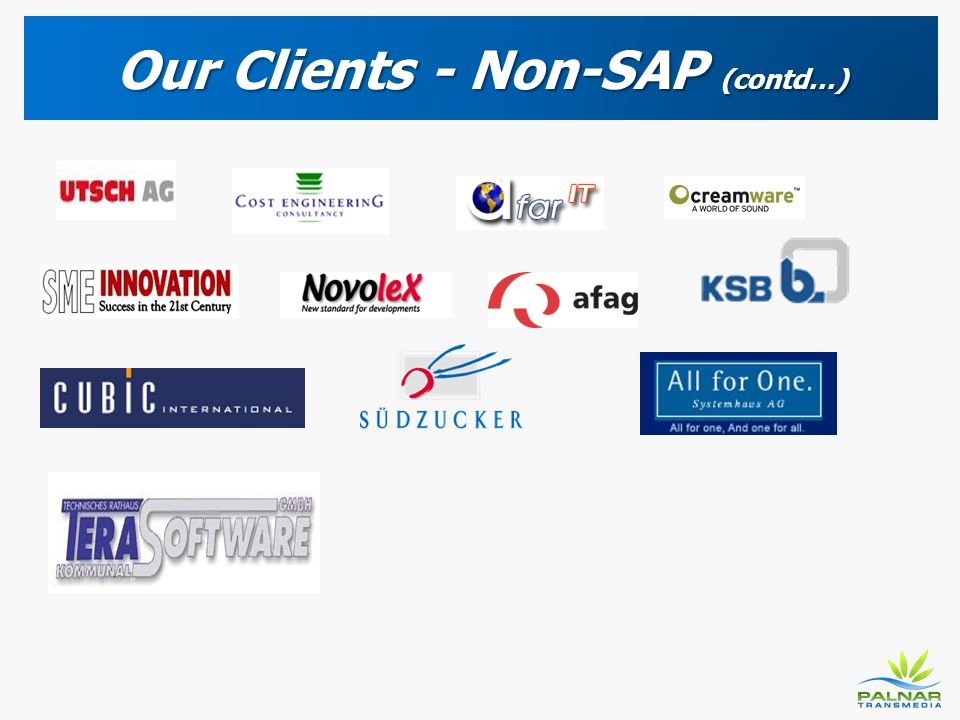 Our Clients - Non-SAP (contd…)