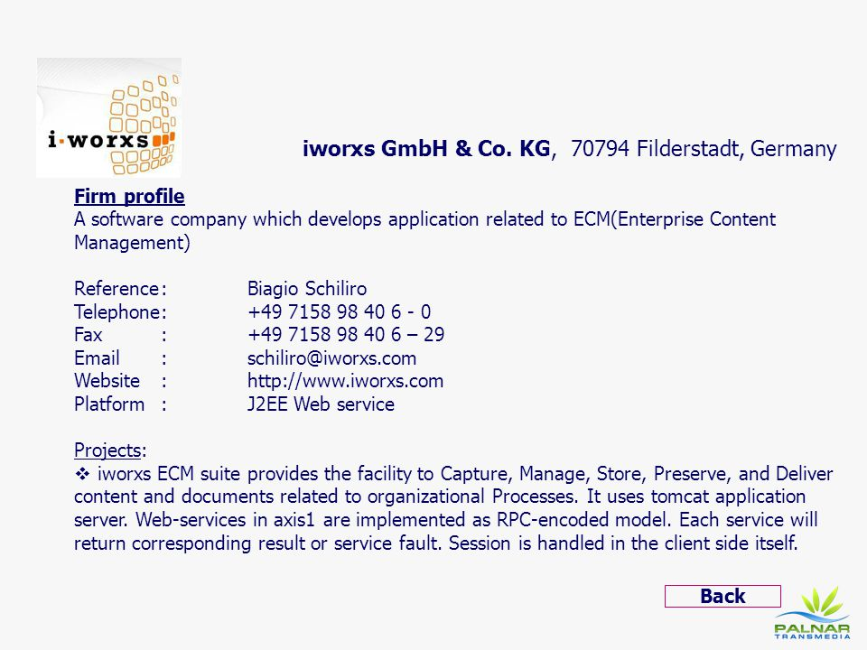 iworxs GmbH & Co. KG, 70794 Filderstadt, Germany