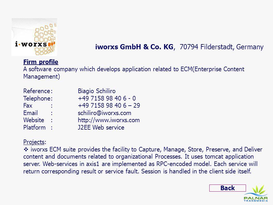 iworxs GmbH & Co. KG, 70794 Filderstadt, Germany