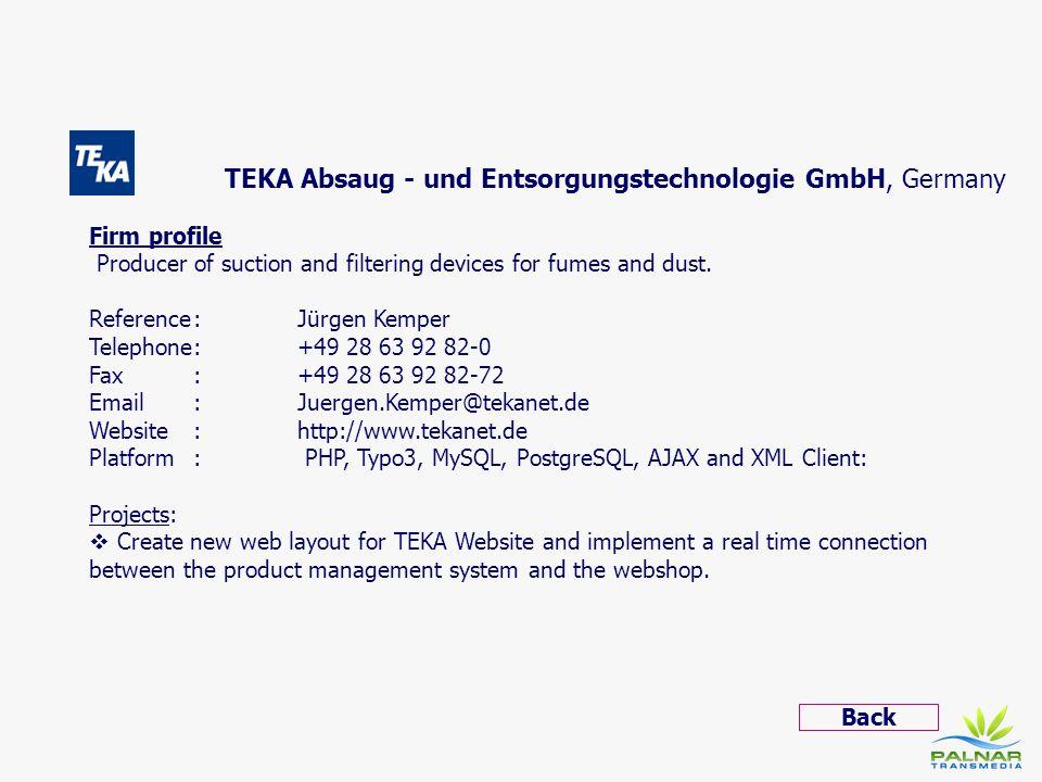TEKA Absaug - und Entsorgungstechnologie GmbH, Germany