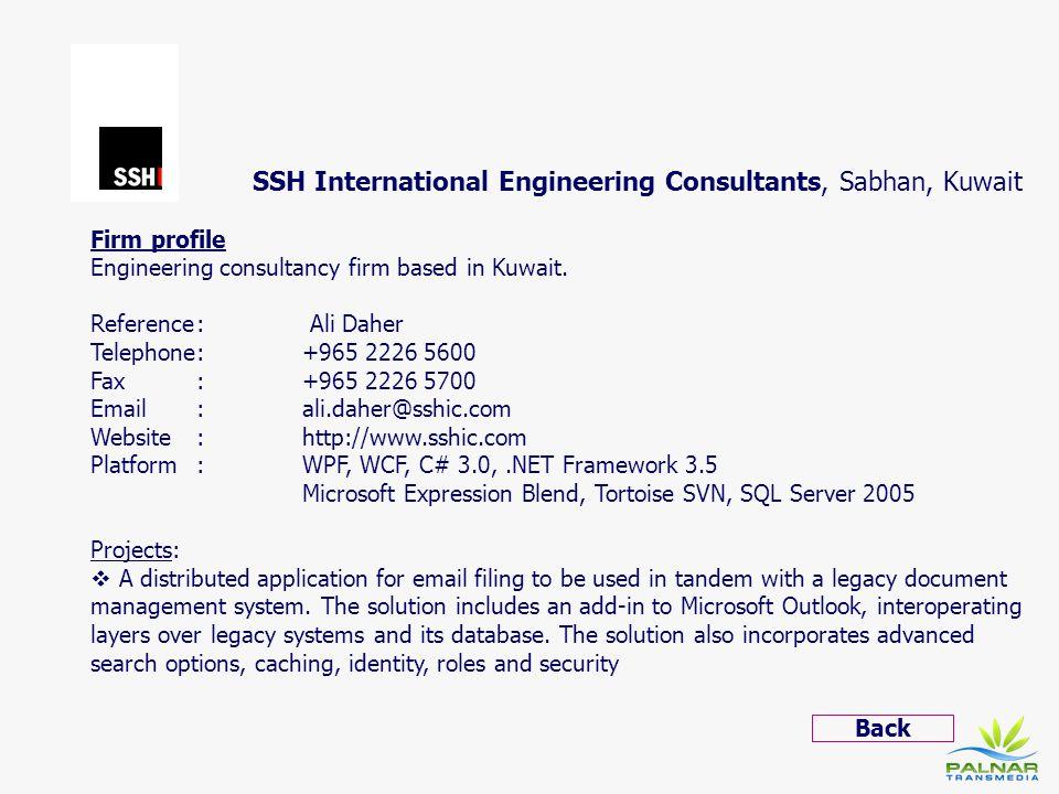 SSH International Engineering Consultants, Sabhan, Kuwait