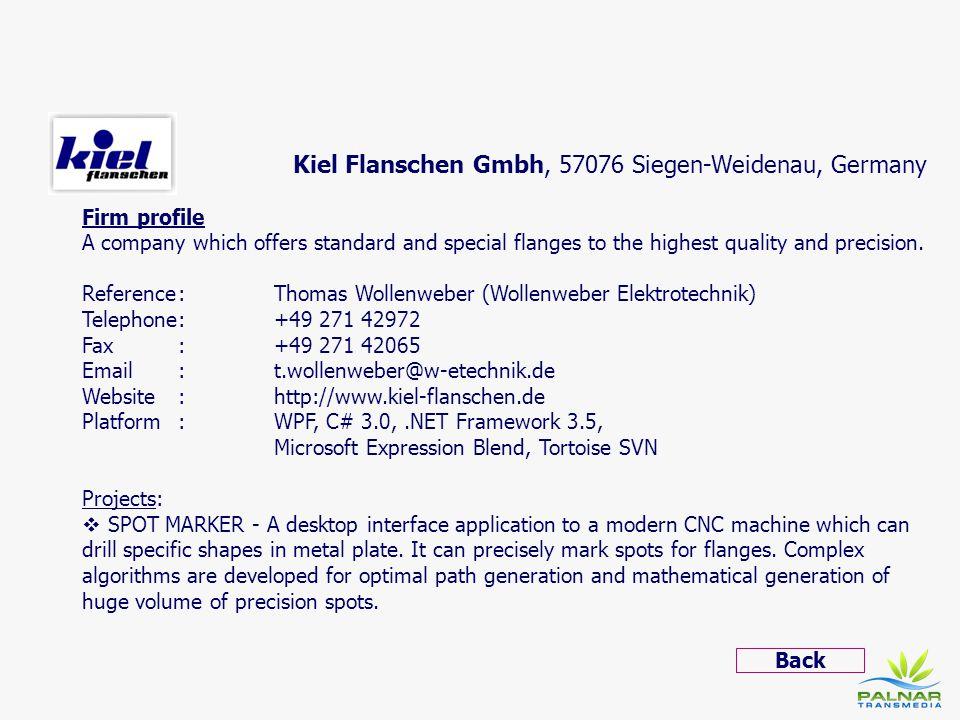 Kiel Flanschen Gmbh, 57076 Siegen-Weidenau, Germany