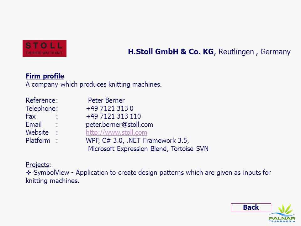 H.Stoll GmbH & Co. KG, Reutlingen , Germany