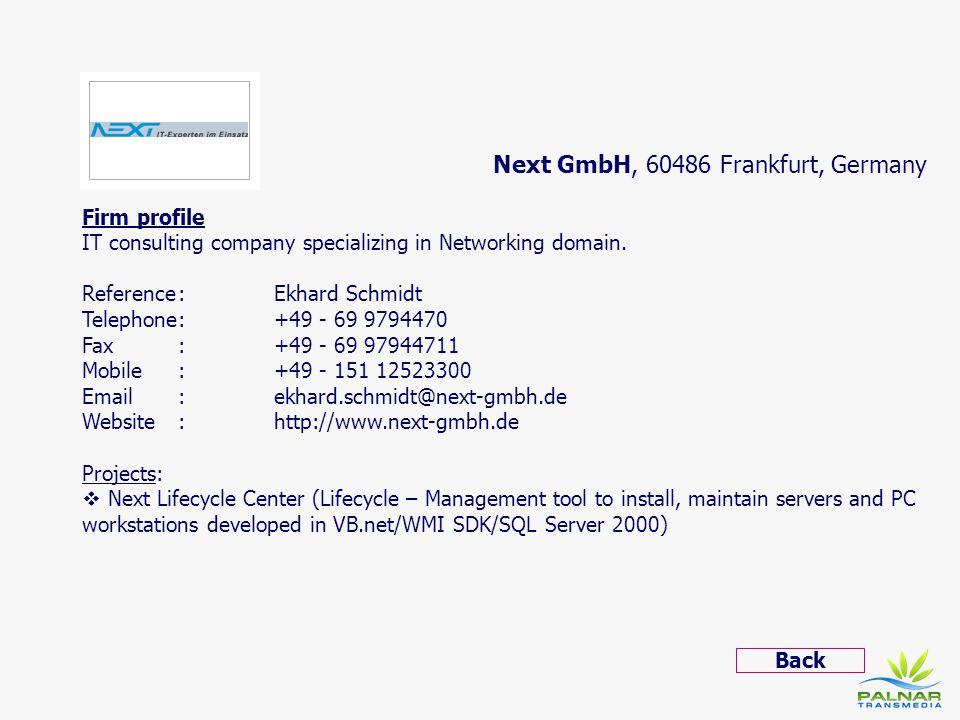 Next GmbH, 60486 Frankfurt, Germany